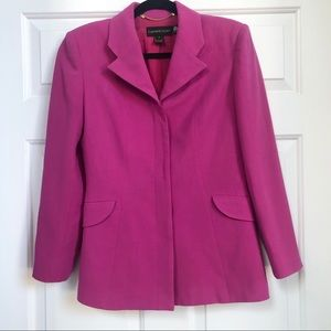 Classiques Entiers Pink Wool Jacket Size 2